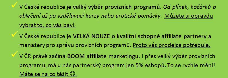 affiliate v české republice