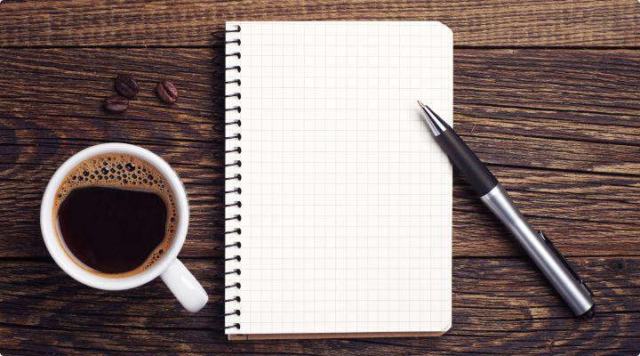 Kafe a zápisník