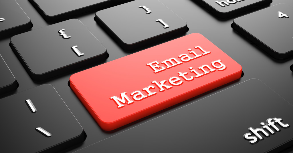 Email Marketing on Red Keyboard Button.